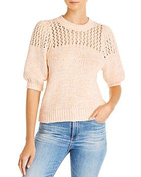 Joie - Una Open-Knit Puff-Sleeve Sweater