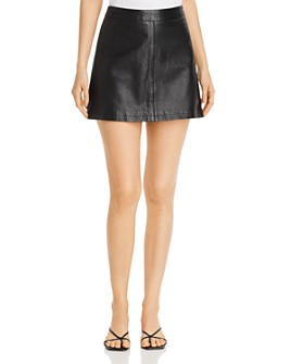 cupcakes and cashmere - Marrie Leather Mini Skirt