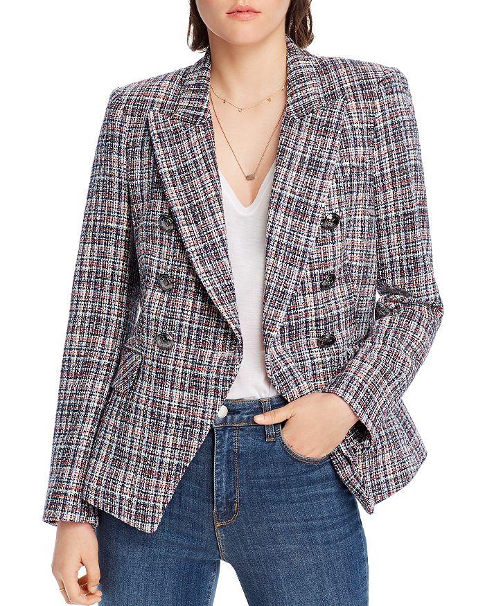 Lini Mckenzie Tweed Double-breasted Blazer - 100% Exclusive In Navy Multi