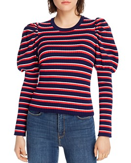 LINI - Marla Striped Juliet-Sleeve Sweater - 100% Exclusive