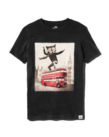 Kid Dangerous - Boys' Double Decker Bus Cotton Tee - Little Kid, Big Kid