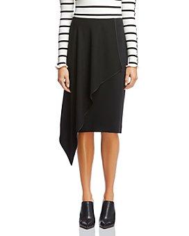 Bailey 44 - Ruffle-Front Knee-Length Pencil Skirt