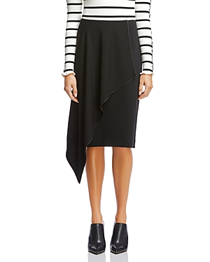 Bailey 44 Ruffle-Front Knee-Length Pencil Skirt