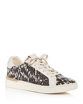 COACH - Women's Lowline Luxe Snake-Embossed Low-Top Sneakers - 100% Exclusive