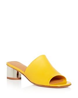 Clergerie - Women's Lea Block-Heel Slide Sandals