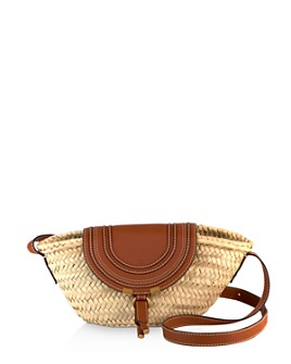 Chloé - Marcie Small Leather & Raffia Crossbody