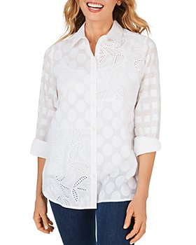 Foxcroft - Maven Cotton Textured Tunic