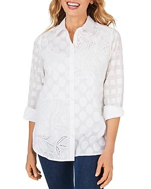 Foxcroft Maven Cotton Textured Tunic-Women
