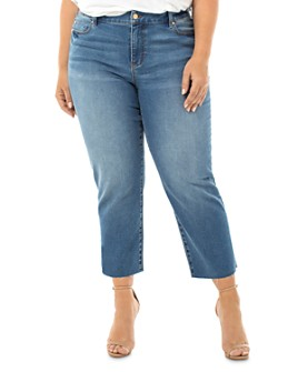 Liverpool Los Angeles Plus - Cropped Straight-Leg Jeans in Arizona