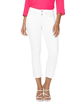 NYDJ - Marilyn Straight Ankle Jeans in Optic White