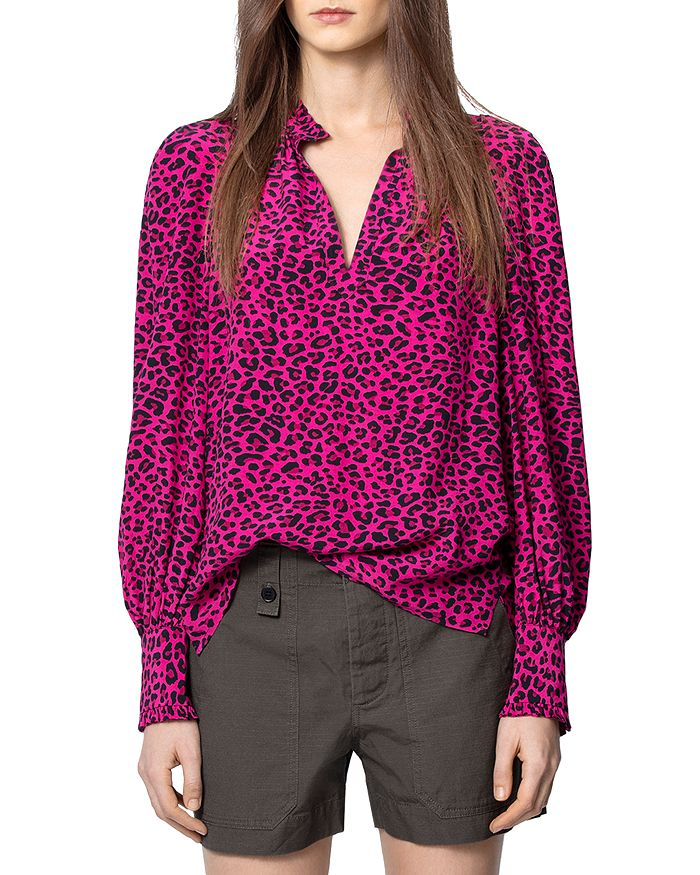 Zadig & Voltaire - Animal-Print Long-Sleeve Top