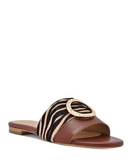 Joan Oloff - Women's Margo Printed Calf Hair Sandals