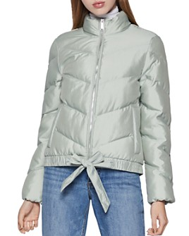BCBGENERATION - Zip-Up Bow-Detail Puffer Jacket