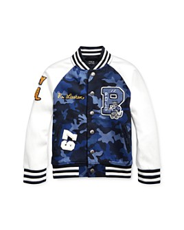 Ralph Lauren - Boys' Camo Letterman Jacket - Little Kid