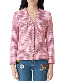 Maje - Tweed Button Jacket