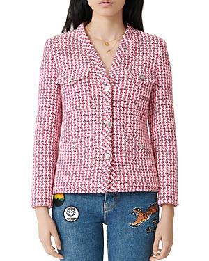 Maje Tweed Button Jacket