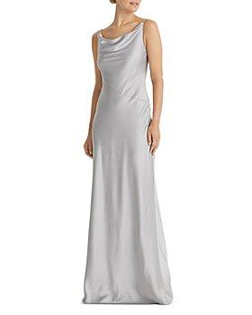 Ralph Lauren - Satin Cowl Neck Gown