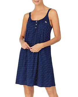 Ralph Lauren - Cotton Double-Strap Knit Nightgown
