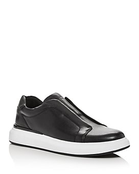 KARL LAGERFELD PARIS - Men's Leather Slip-On Low-Top Sneakers