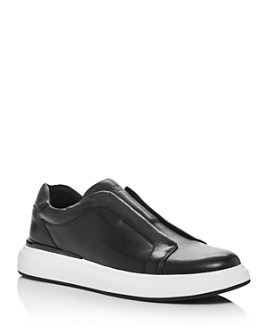 KARL LAGERFELD PARIS - Men's Leather Slip-On Low-Top Sneakers