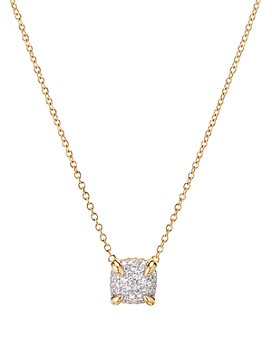 David Yurman - Châtelaine® Pendant Necklace in 18K Yellow Gold with Full Pavé Diamonds, 18""