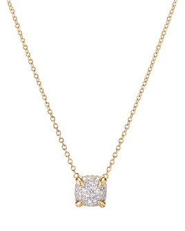"""David Yurman - Châtelaine® Pendant Necklace in 18K Yellow Gold with Full Pavé Diamonds, 18"""""""