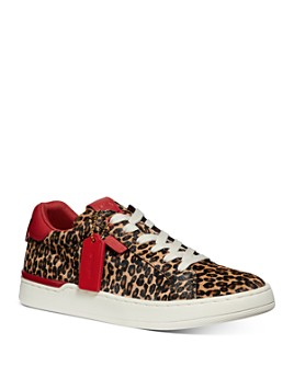COACH - Women's Lowline Luxe Calf Hair Low-Top Sneakers