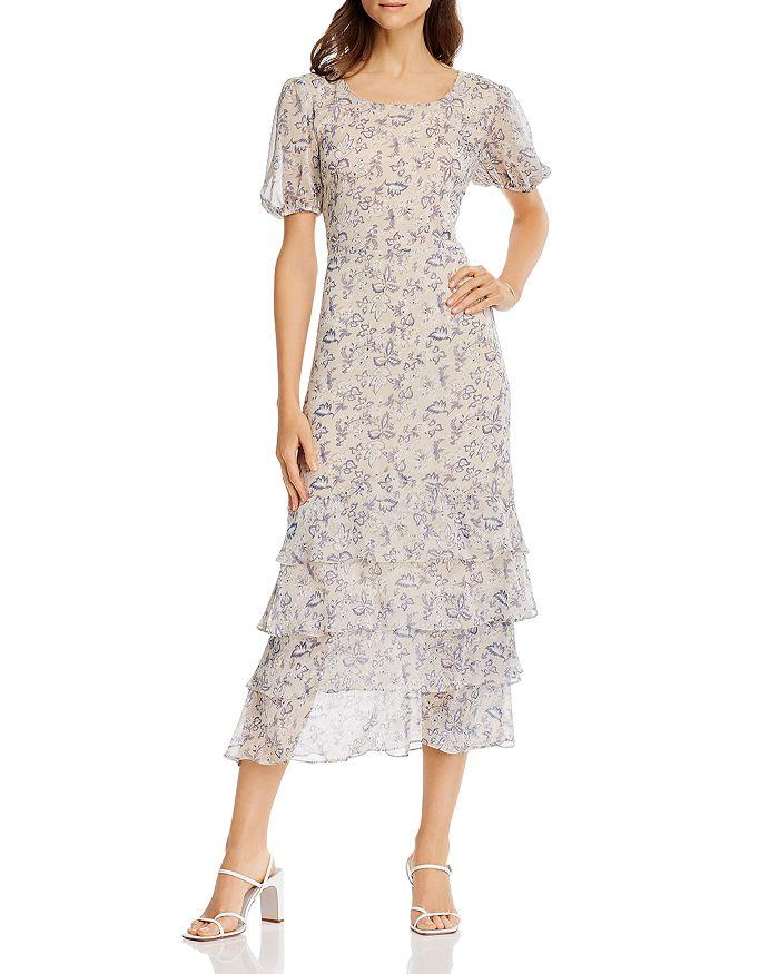 AQUA - Vintage Floral Print Maxi Dress - 100% Exclusive