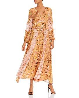 Bardot - Mixed-Print Ruffled Dress