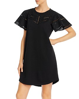 Parker - Katrina Crochet-Detail Sheath Dress