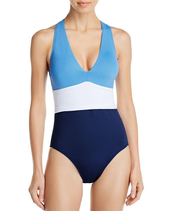 Ralph Lauren - Color-Block Twist-Back One Piece Swimsuit