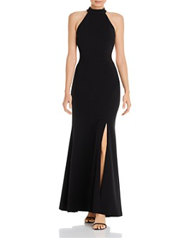 AQUA - Exposed Back Evening Gown - 100% Exclusive