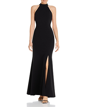Aqua Exposed Back Evening Gown - 100% Exclusive-Women