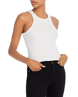 FORE - Rib-Knit Racerback Top