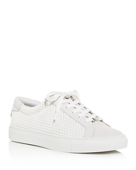 J/Slides - Women's Lacee Laser Cut-Out Low-Top Sneakers