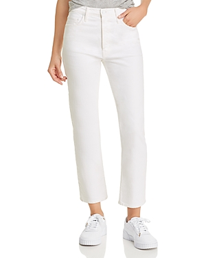 Mother The Tomcat Cropped Straight Jeans in Totally Innocent-Women
