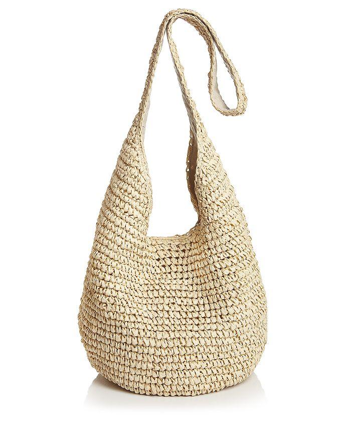 Aqua Woven Crossbody Bag - 100% Exclusive In Natural/silver