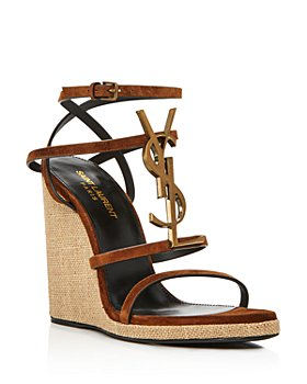 Saint Laurent - Women's Cassandra 105 YSL Wedge Sandals
