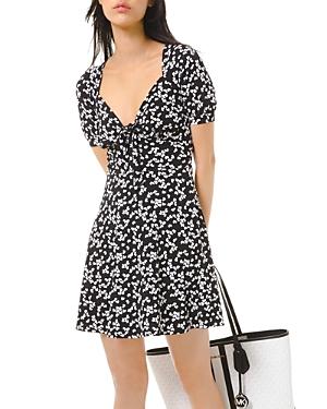 Michael Michael Kors Printed Tie-Front Dress-Women