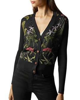 Ted Baker - Hyree Highland Woven-Front Cardigan