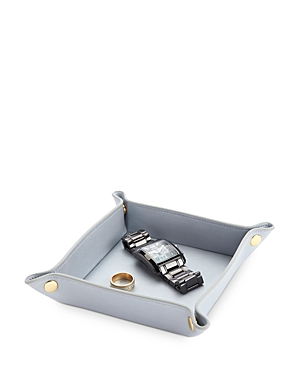 Royce New York Catch-All Leather Valet Tray