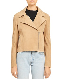 Theory - Slim-Fit Suede Moto Jacket