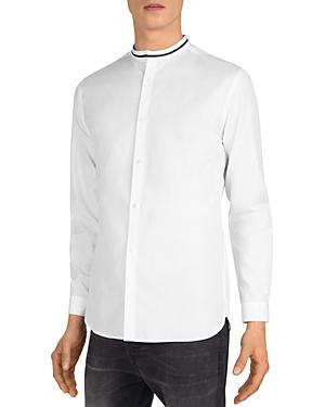 The Kooples Cotton Faille Mandarin-Collar Shirt