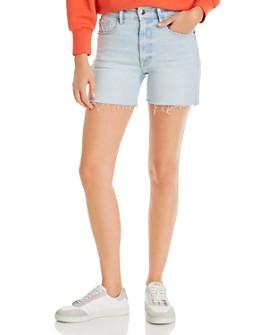 FRAME - Le Tour Frayed Denim Shorts in Altadena