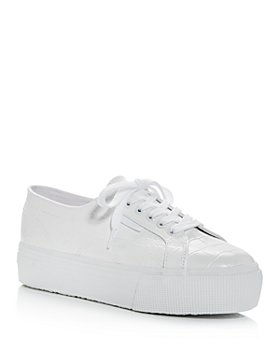 Superga - Women's Croc-Embossed Low-Top Platform Sneakers