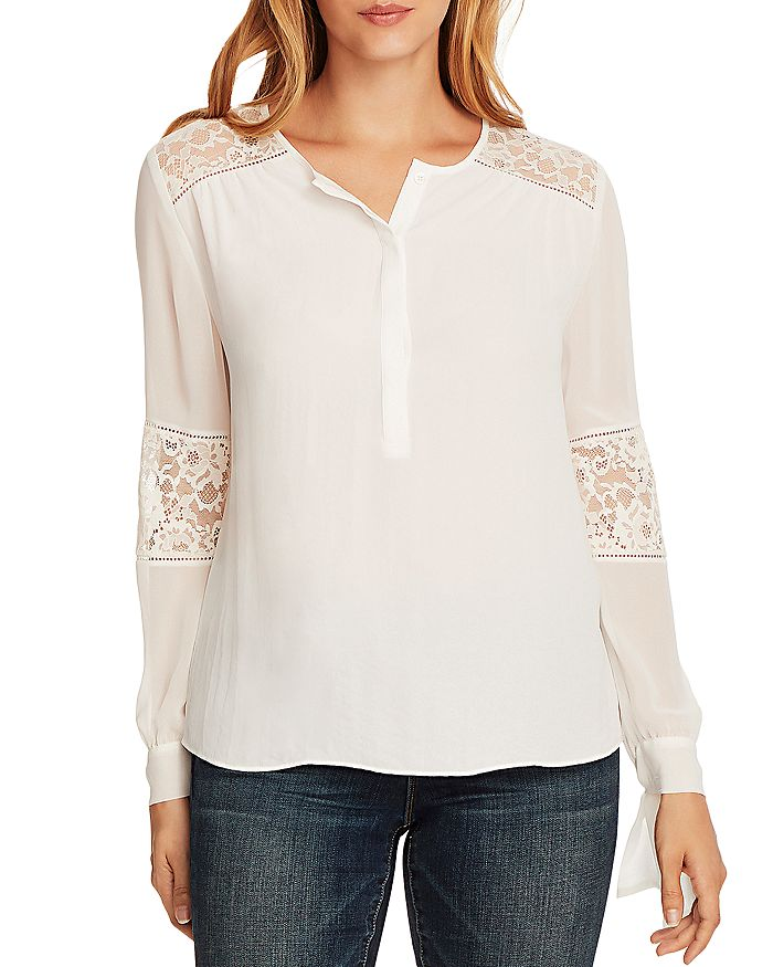 VINCE CAMUTO - Tie-Cuff Blouse