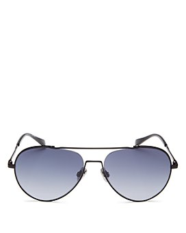 rag & bone - Men's Brow Bar Aviator Sunglasses, 58mm