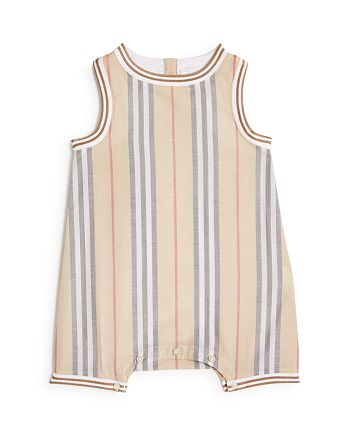 Burberry - Boys' Icon Stripe Romper - Baby