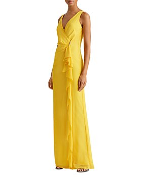 Ralph Lauren - Ruffle-Trim Georgette Gown