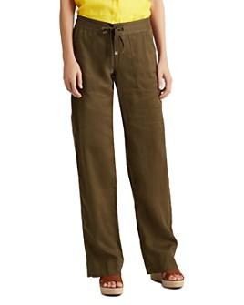 Ralph Lauren - Wide-Leg Drawstring Pants